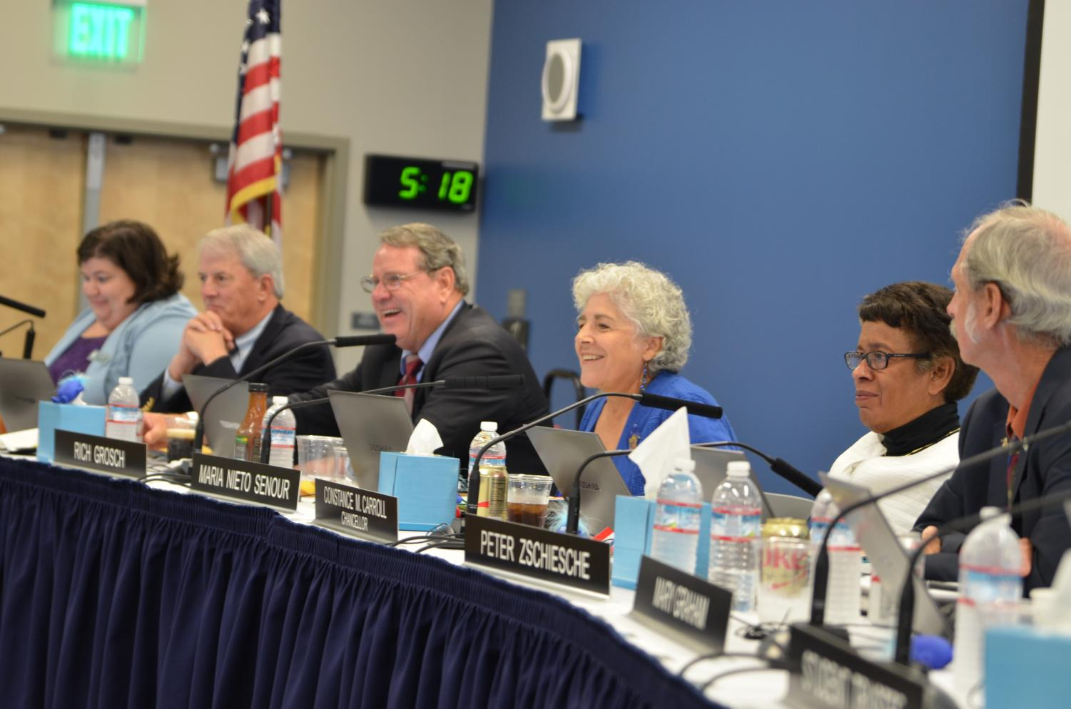 Board of Trustees and the Chancellor, working together on the new SDCCD student centered funding budget.