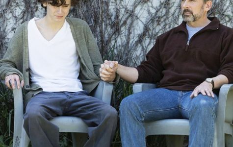 Nic (Chalamet) sharing a vulnerable moment with his father David (Carell).