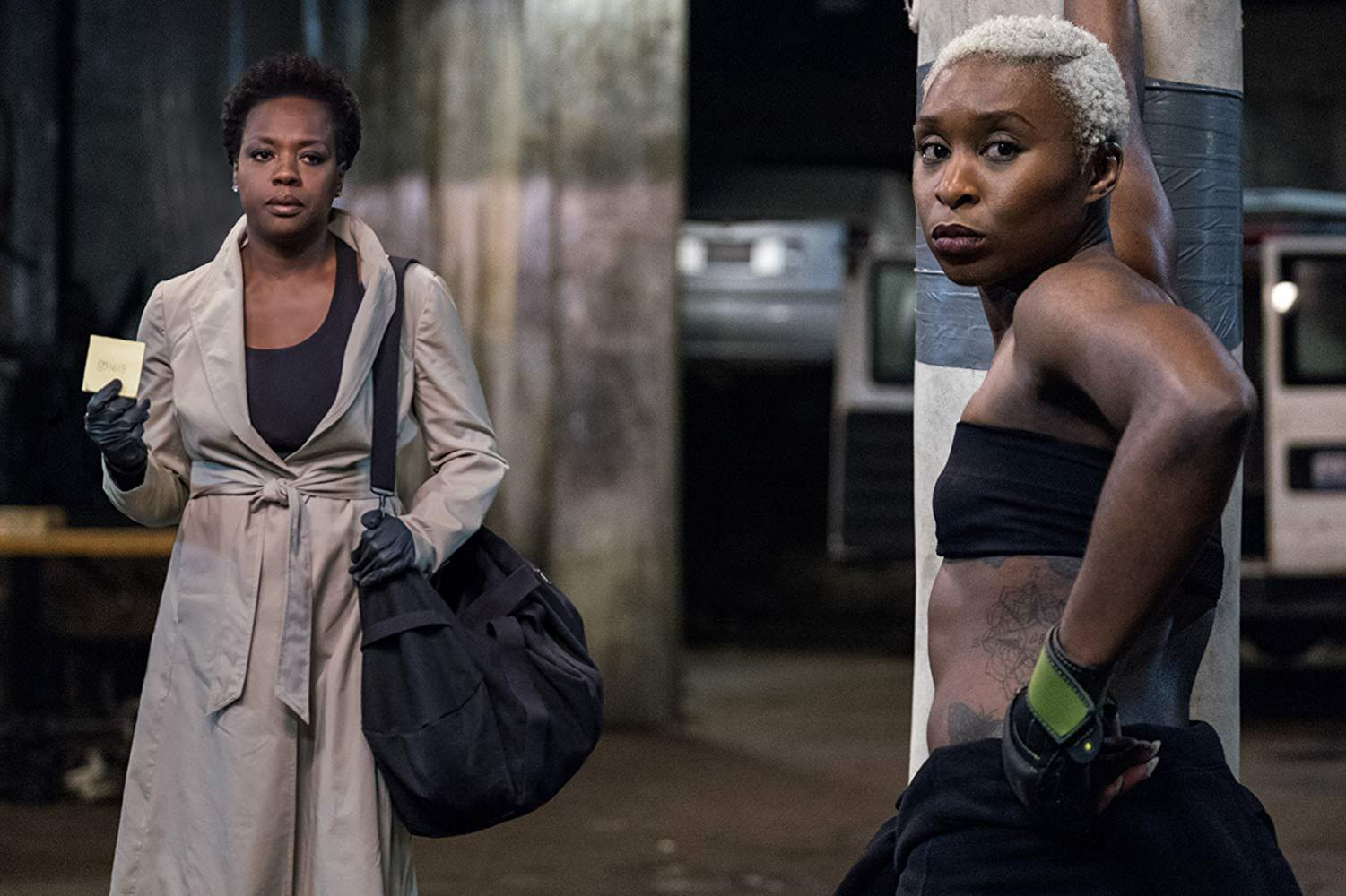 One of the widows, Veronica (Davis), summoning Belle (Cynthia Erivo) for help to carry out the plan.