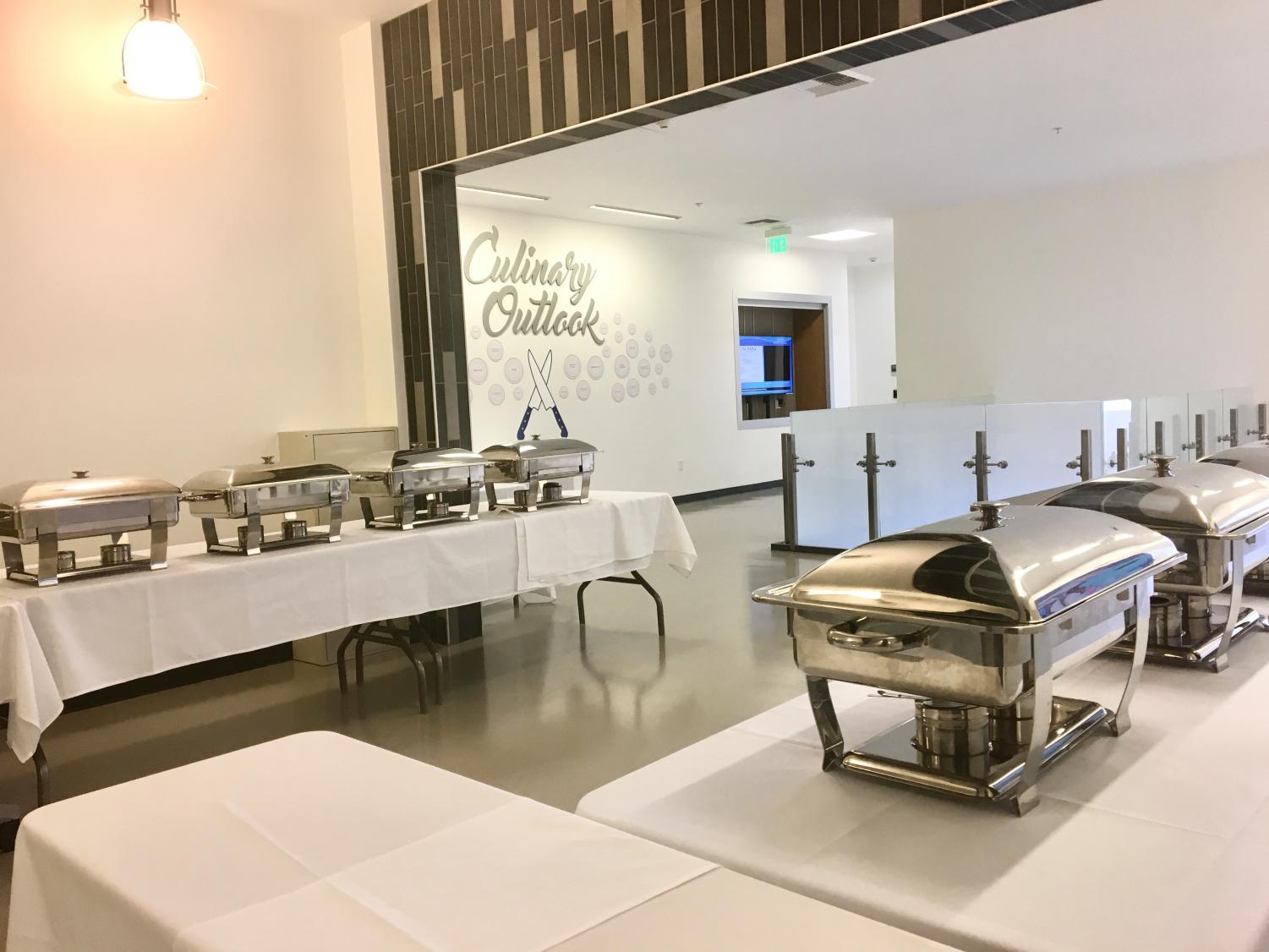 Culinary arts students prepared a Thanksgiving feast for all students to enjoy.