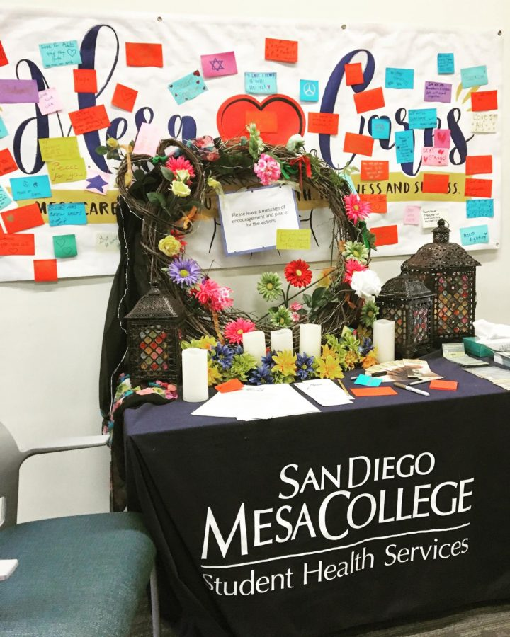 Mesa invites students to write caring messages for victims of terrorism.