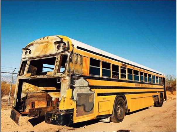 Abandoned bus in Los Niños Neighborhood Park. Photo credit: instagram.com/artrambo