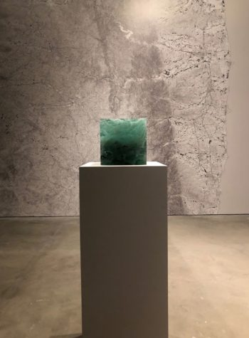 """Trinity Cube"" by Trevor Paglen, 2015. Medium: Sculpture made up of trinitite and irradiated glass."