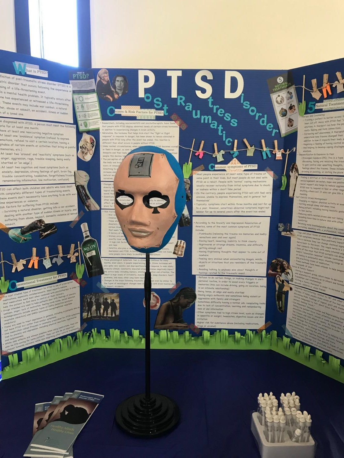 Business administration  student Vantha Sao's art presentation on post-traumatic stress disorder features a