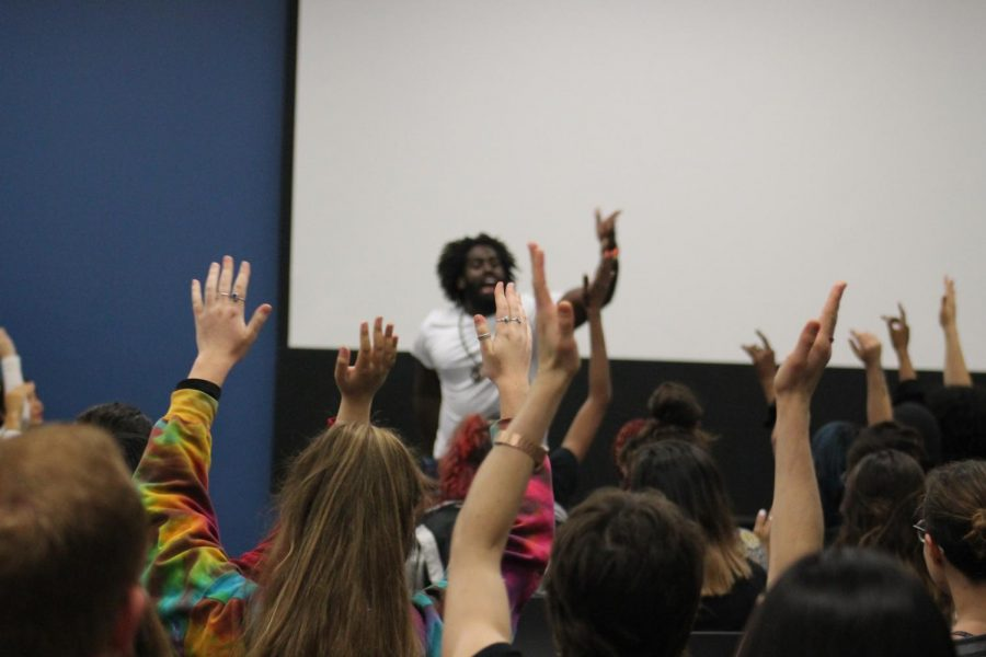 Santé Prince gets the audience excited for the rest of the night during his performance  Photo Credits : Serena Randazzo