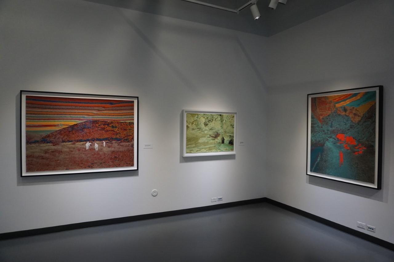 A few works by John Brinton Hogan in his solo exhibit