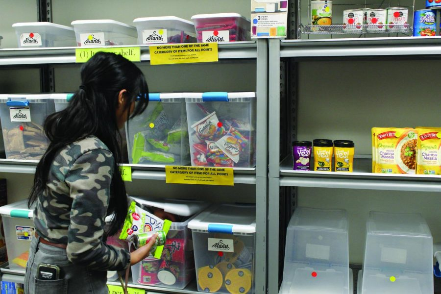 The Stand offers items ranging from instant ramen to non-perishable items. Photo Credit: Jade Cole