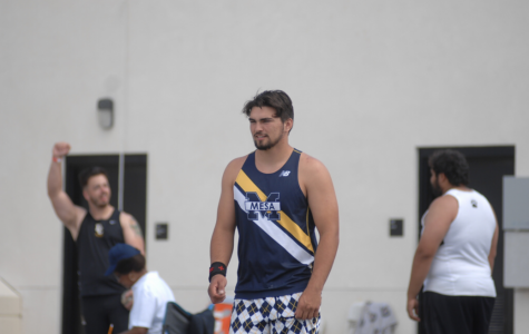 Andrew was one of the top throwers for the Olympians. Photo Credit: Andy Orozco