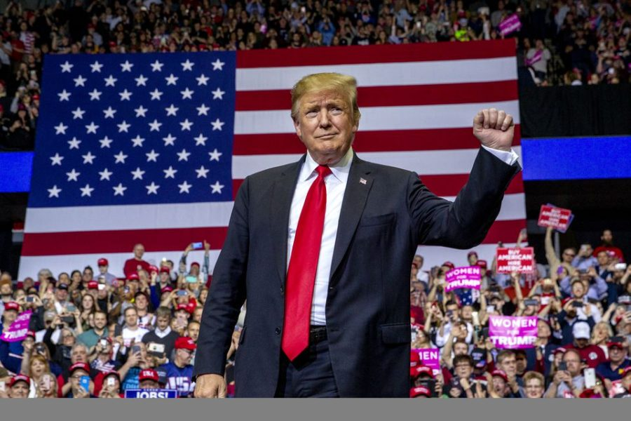 President Donald J. Trump holds a rally at Van Andel Arena in Grand Rapids, March 2019.