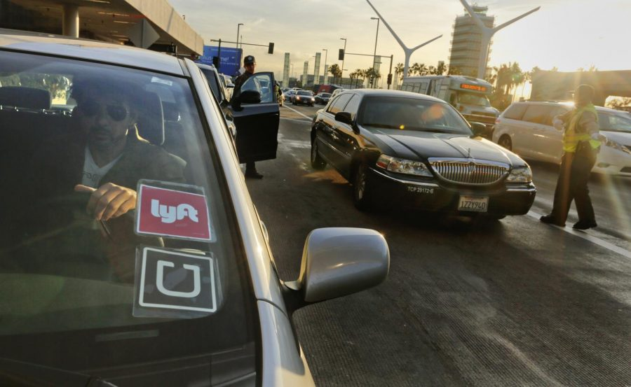 Lyft and Uber are two of the leading donors of Prop 22 Credit: Mark Boster/MCT Press